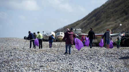 A Surfers against Sewage beach clean. Picture: MARK BULLIMORE