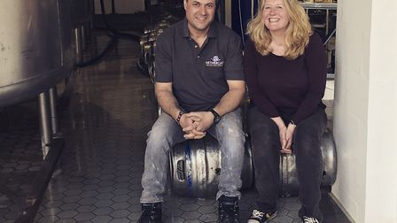 Penny Wilby with Nethergate head brewer Paul Gower Picture: Penny Wilby