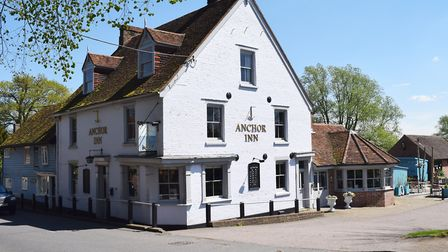 The historic Anchor Inn, on the banks of the River Stour, has been put up for sale by its owners, wi