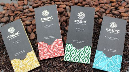 Three of Tosier's chocolate bars have won awards. Picture: Tosier