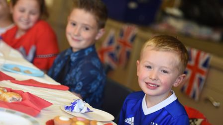 Children from Saxmundham Primary School had an afternoon tea party to celebrate the Royal Wedding.