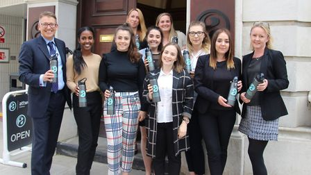 Ipswich-based Attwells Solictors are going greener and have cut out single use plastics in the offic