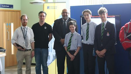 Staff and students from The University of Suffolk and the Royal Hospital School, Holbrook at the Cod