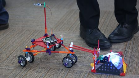 Embedded tech in action: this sphero, programmed by the students at the Royal Hospital School, makes