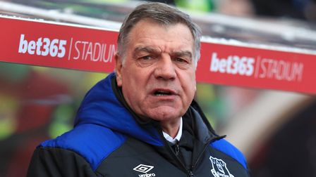 Former Everton manager Sam Allardyce ahead of the Premier League match at the bet365 Stadium, Stoke