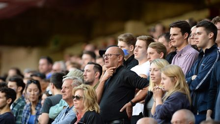 Ipswich fans at Bramall Lane have been told to 'be careful what you wish for' Picture Pagepix