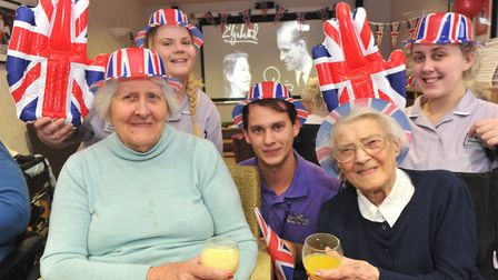 Residents of Care UK's Davers Court celebrate the 70th Wedding Anniversary of the Queen and Prince P