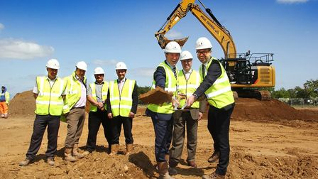 From left, Nick Timms � Barnes Construction, Jeremy Ault � Pick Everard, Jason Starling � Barnes Con