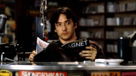 John Cusack as the lover-lorn Rob Gordon in Nick Hornby's High Fidelity. Photo: Touchstone Studios