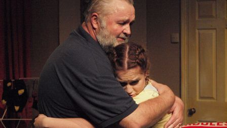 Phil Cory and April Rand in the Gallery Players production of Gordon Steel's play Grow Up Grandad. P