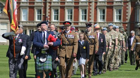 Orwell Park hosted a memorial day for members of the Desert Rats who served in World War Two Picture