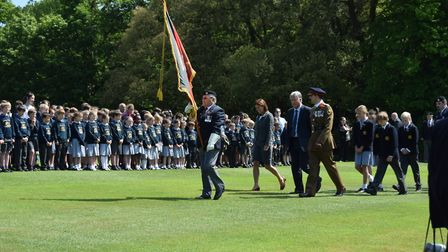 The whole school attended the Desert Rats memorial at Orwell Park Picture: ORWELL PARK SCHOOL