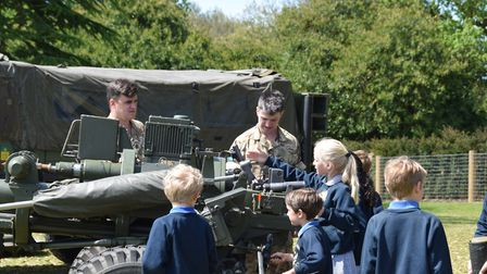 Pupils got to meet and speak with members from the Desert Rats Association Picture: ORWELL PARK SCHO