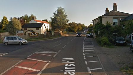 The accident was at the Stonham crossroads Picture: GOOGLE MAPS