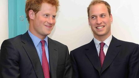 Prince Harry and Prince William were best men at one another's weddings. Picture: ANTHONY DEVLIN/PA