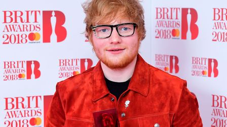 Ed Sheeran said he was admitted to Ipswich Hospital in October 2017. Picture: IAN WEST/PA WIRE