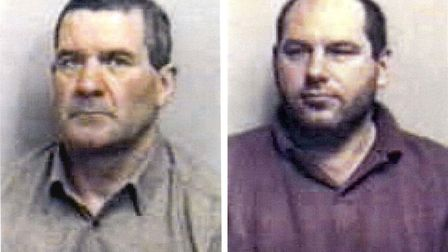 Michael Steele (left) and Jack Whomes were jailed for the 1995 killing of three men in what became k