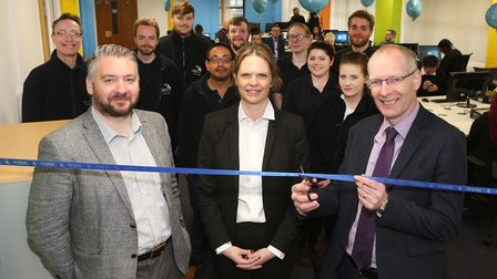 The opening of the new Anglian Home Improvements outbound contact centre in Civic Drive, Ipswich. Mi