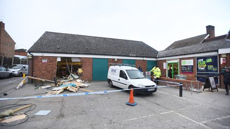 Co-op in Debenham was ram raided in February this year . Picture: ARCHANT