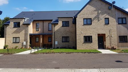 The Meadow Court houses in Lavenham are up for an award. Picture: BABERGH DISTRICT COUNCIL