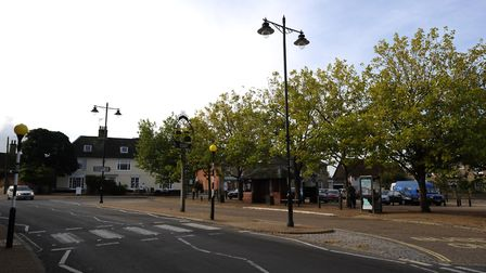 The photo shoot will take place in Wickham Market Square. Picture: SIMON PARKER