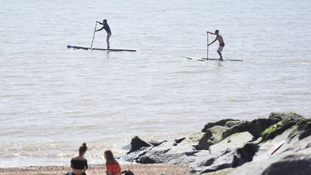 Hot weather in Felixstowe bring out thousands of beach goers. Picture: GREGG BROWN