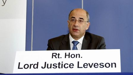 Lord Leveson at the inquiry into press standards. A major public consultation rejected reopening the