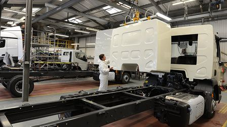 Fitting cab conversions at the Framlingham factory.
