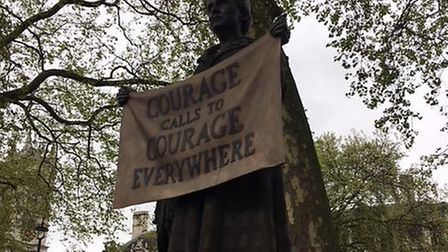 The statue of Millicent Fawcett in Parliament Square. Picture: LJM