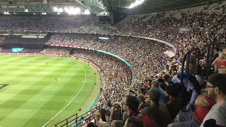 The modern stadiums in Australia are a huge advantage - Melbourne's even has a roof! Picture: DON TO