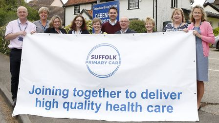 Staff at Debenham Surgery celebrate the launch of Suffolk Primary Care. Picture: SUFFOLK PRIMARY CAR