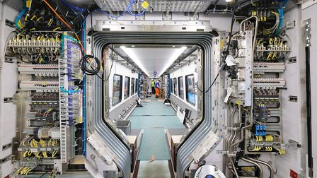An internal view of the new Stadler Bi-mode train for Greater Anglia. Picture: NICK STRUGNELL/GREATE