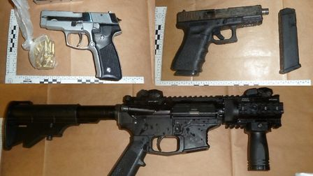 Part of the firearms haul which was found by Border Force officers at Dover. Picture: NCA
