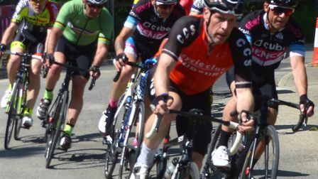 James Newton (CC Sudbury) leads a group down Commister Lane in Ixworth. Picture: FERGUS MUIR