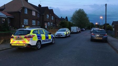 Police are on the scene in Linnet Road. Picture: EMMA BRENNAN