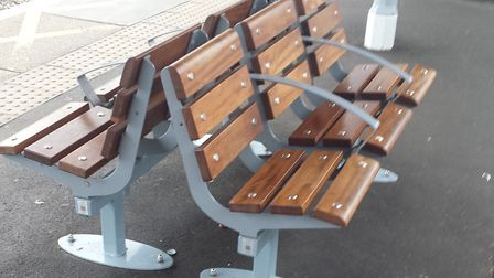 Greater Anglia has installed new benches at stations across the region. Picture; GREATER ANGLIA