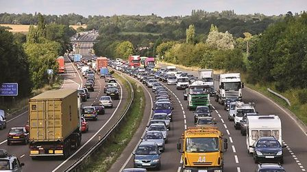 Long delays have been reported on the A12. Picture: HIGHWAYS ENGLAND