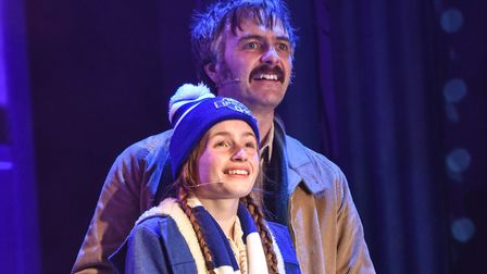 James Daffern and Anna Kitching in Our Blue Heaven, by Peter Rowe, at the New Wolsey Theatre, Ipswic