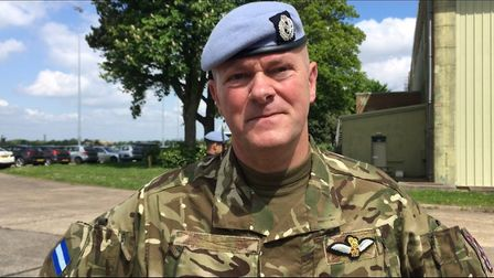 Captain 'Percy' Pearce flew with Prince Harry in Afghanistan. Picture: AMY GIBBONS