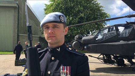 Corporal Stuart Armstrong said Prince Harry was grounded and easy to work with. Picture: AMY GIBBONS