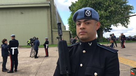 Airtrooper Joel St Claire-Pierre said he was honoured to be a part of the royal wedding. Picture: AM