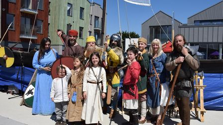 Re-enactors at the Beowulf Festival. Picture: CHARMIAN BERRY