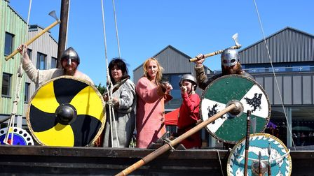 Colourful costumes on show at the Beowulf Festival. Picture: CHARMIAN BERRY