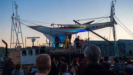 Caswell on the Marie boat stage. Picture: CHRIS MAPEY