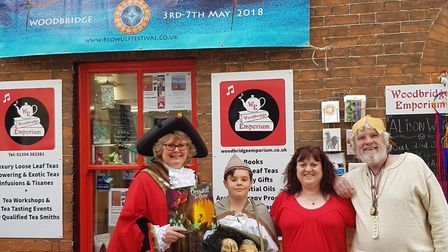 Woodbridge Mayor Clare at the Dragon evening story telling event. Picture: J BUTTON