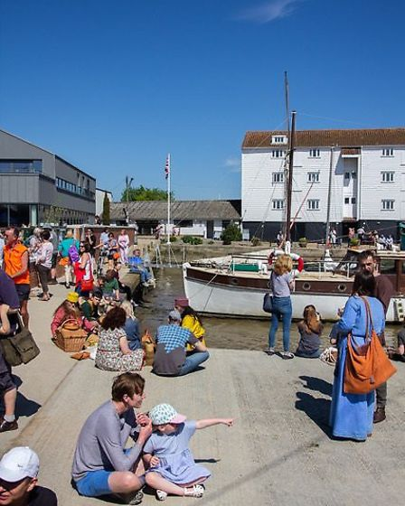 Beowulf Festival goers relaxing in the sunshine. Picture: CHRIS MAPEY