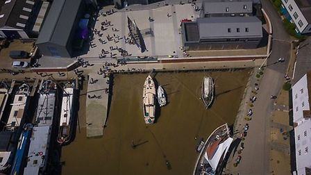 Overhead shot of the Beowulf Festival. Picture: CHRIS MAPEY