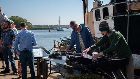 Woodbridge DJ David Freedland, with electronic music artist Girl in a Gale. Picture: CHRIS MAPEY