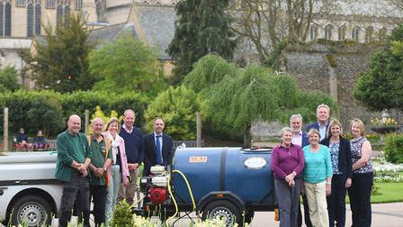 A new bowser has been bought to help water the plants, clean the benches and footpaths in the Abbey