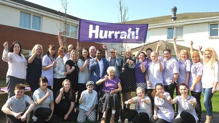 Prince George House care home in Ipswich is celebrating a 'good' CQC rating. Picture: LUCY TAYLOR